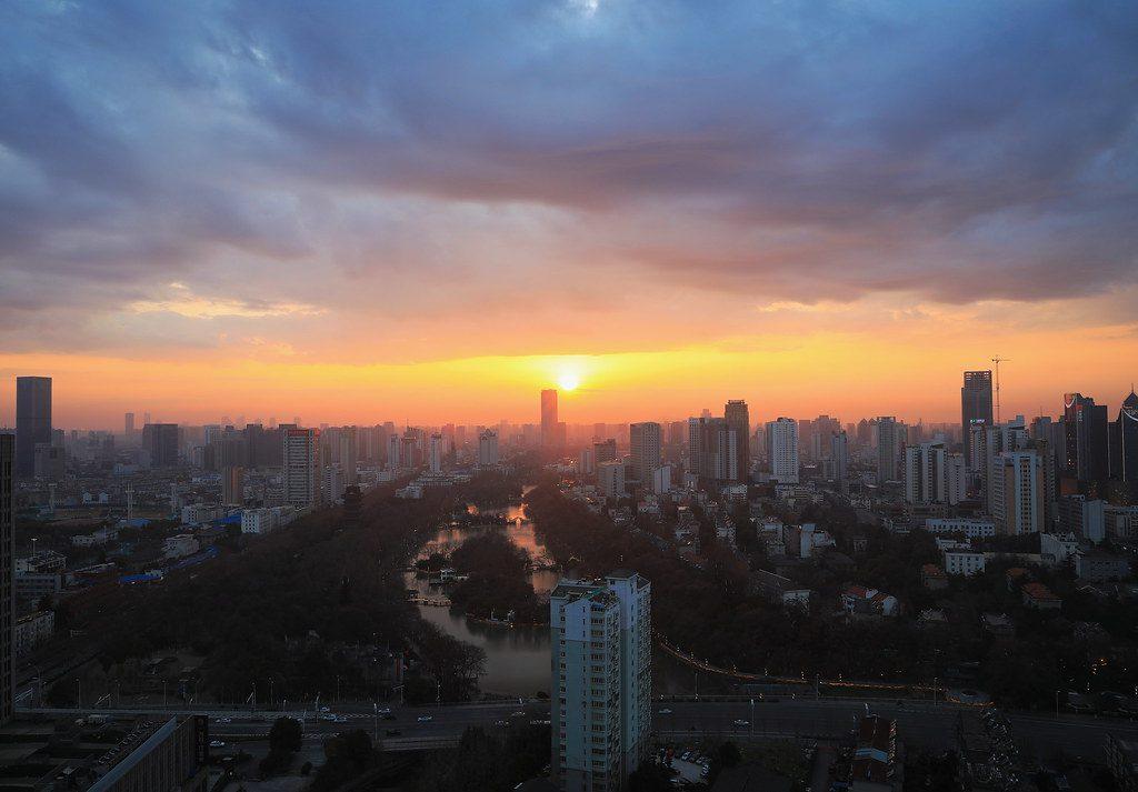 从家向西望,祝武汉的家人、朋友、老师、同学平安